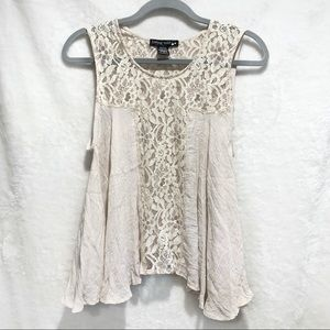 Living Doll Flowy Lace Tank Top